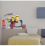 Minions Wall Sticker Vespa