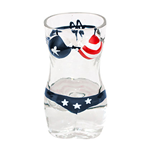 American Flag Women's Swimsuit 6 Pack Shot Glass Set