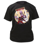 DEADPOOL Men's Black Wanted Tee Shirt
