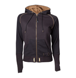 ASSASSIN'S CREED Syndicate Adult Female Bronze Brotherhood Crest Full Length Zipper Hoodie, Large, Black/Bronze