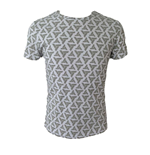 ASSASSIN'S CREED Adult Male Abstergo Logo All-Over Print T-Shirt, Extra Large, Grey