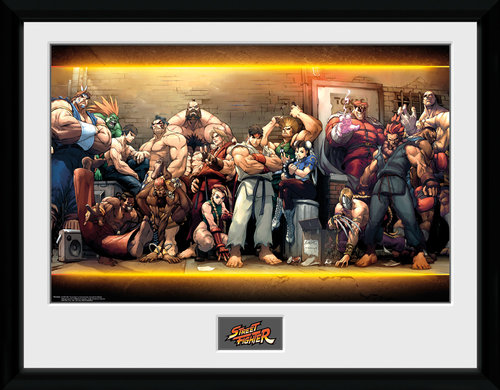 Street Fighter Characters Framed Collector Print