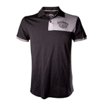 JACK DANIEL'S Adult Male Old No.7 Brand Polo Shirt, Large, Black/Grey