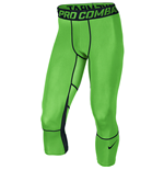 Nike Pro Hypercool Compression Three Quarter Length Tights (Green)