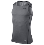 Nike Pro Hypercool 3.0 Fitted Sleeveless Top (Carbon Heather)