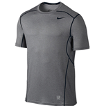 Nike Pro Hypercool 2.0 Fitted Short Sleeve Top (Carbon Heather)