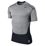 Nike Pro Combat Hypercool Compression SS Top (Carbon Heather)