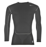 Nike Pro Combat Hypercool Compression LS Top (White)