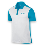 Nike Mens Advantage Tennis Polo Shirt (White-Blue)