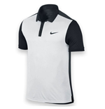Nike Mens Advantage Tennis Polo Shirt (White-Black)