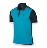 Nike Mens Advantage Tennis Polo Shirt (Blue-Black)