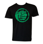 Hulk Men's Black Circle Logo Tee Shirt