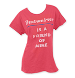 Junk Food BUDWEISER Is A Friend Of Mine Women's Tee Shirt