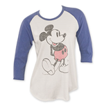 Junk Food Mickey Mouse Women's Raglan Sleeve Shirt