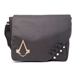 ASSASSIN'S CREED Syndicate Unisex Brotherhood Crest Cover Messenger Bag, One Size, Black/Gold