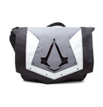 ASSASSIN'S CREED Syndicate Unisex Grey Cover with Brotherhood Crest Messenger Bag, One Size, Grey/Black