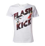 CAPCOM Street Fighter IV Adult Male Guile's Flash Kick T-Shirt, Large, White