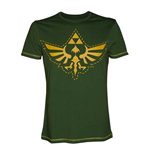 NINTENDO Legend of Zelda Adult Male Royal Crest Cutout T-Shirt, Extra Large, Green
