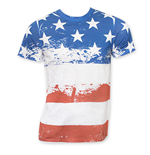American Flag Distressed Sublimation Stars And Stripes Tee Shirt