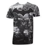 BATMAN Arkham Knight Sublimated Grayscale Tee Shirt