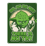 Star Wars Small Metal Sign - Yoda Try