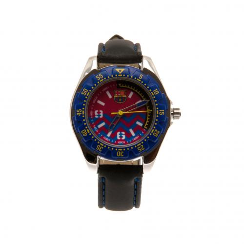 F.C. Barcelona Watch Leather Strap Junior BL