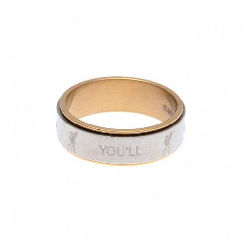 Liverpool F.C. Bi Colour Spinner Ring Small