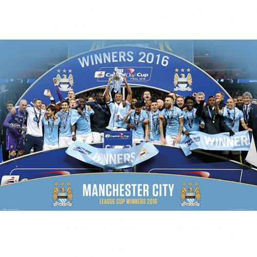 Manchester City F.C. Poster Cup Winners 99