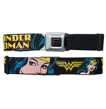 WONDER WOMAN Face Seatbelt Buckle Belt