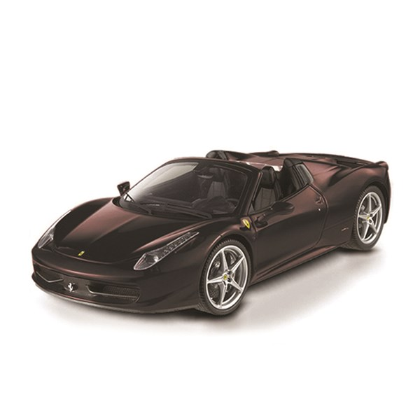 1:24 458 Italia Spider Matt Black Diecast Model