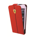 Ferrari  iPhone 5C Red Carbon Flip Cover