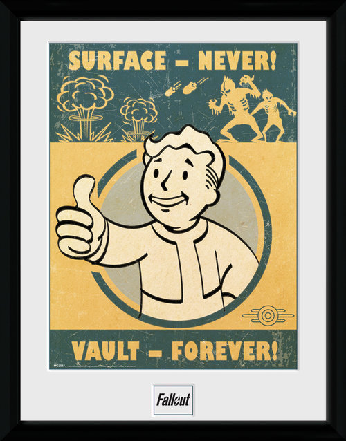 Fallout 4 Vault Forever Framed Collector Print