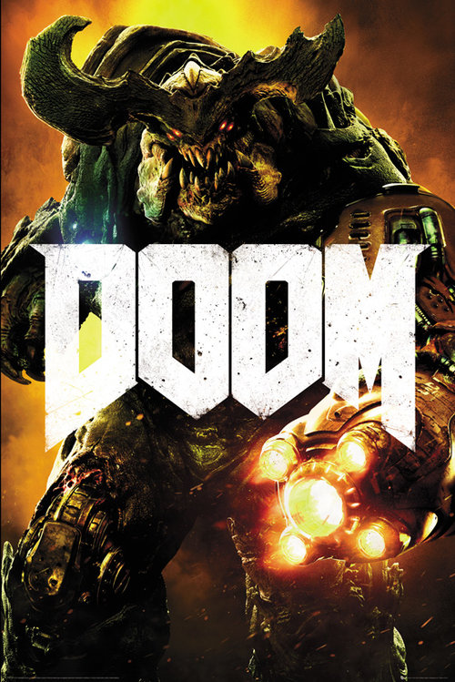 Doom Cyber Demon Maxi Poster