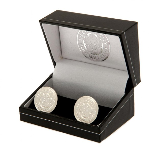 Leicester City F.C. Silver Plated Cufflinks CR