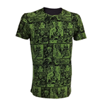 MARVEL COMICS Incredible Hulk Adult Male Classic Green Comic Strip T-Shirt, Large, Green/Black