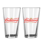 BUDWEISER 2 Pack Pint Glasses