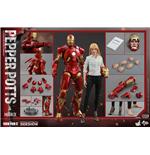 Iron Man 3 Movie Masterpiece Action Figure 2-Pack 1/6 Mark IX & Pepper Potts 30 cm