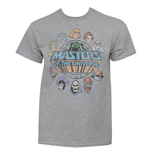 He-Mann Masters Of The Universe Faces Circle Logo Grey