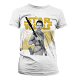 Star Wars Episode VII Ladies T-Shirt Rey Gold Logo