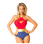 WONDER WOMAN High Neck Monokini