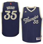 Men's Oklahoma City Thunder Kevin Durant adidas Navy 2016 Christmas Day Swingman Jersey