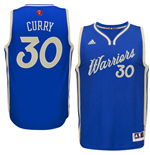 Men's Golden State Warriors Stephen Curry adidas Blue 2016 Christmas Day Swingman Jersey