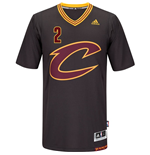 Men's Cleveland Cavaliers Kyrie Irving adidas Black New Swingman Sleeved Jersey