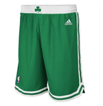 adidas Boston Celtics Kelly Green New Swingman Shorts