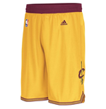 adidas Cleveland Cavaliers Gold Swingman Shorts