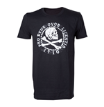 UNCHARTED 4 Adult Male Skull 'n' Crossbones Pro Deus Qvod Licentia 1710 T-Shirt, Extra Large, Black