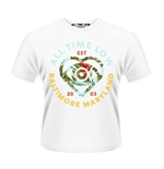 All Time Low T-shirt Vacation Heart (WHITE)