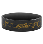 In This Moment Wrist Band Gold Claws Logo Black