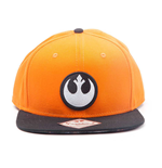 STAR WARS Unisex Resistance Logo Embroidered Patch Snapback Baseball Cap, One Size, Orange/Black