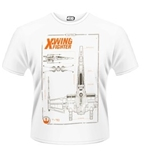 Star Wars The Force Awakens T-shirt X-WING Maintenance Manual